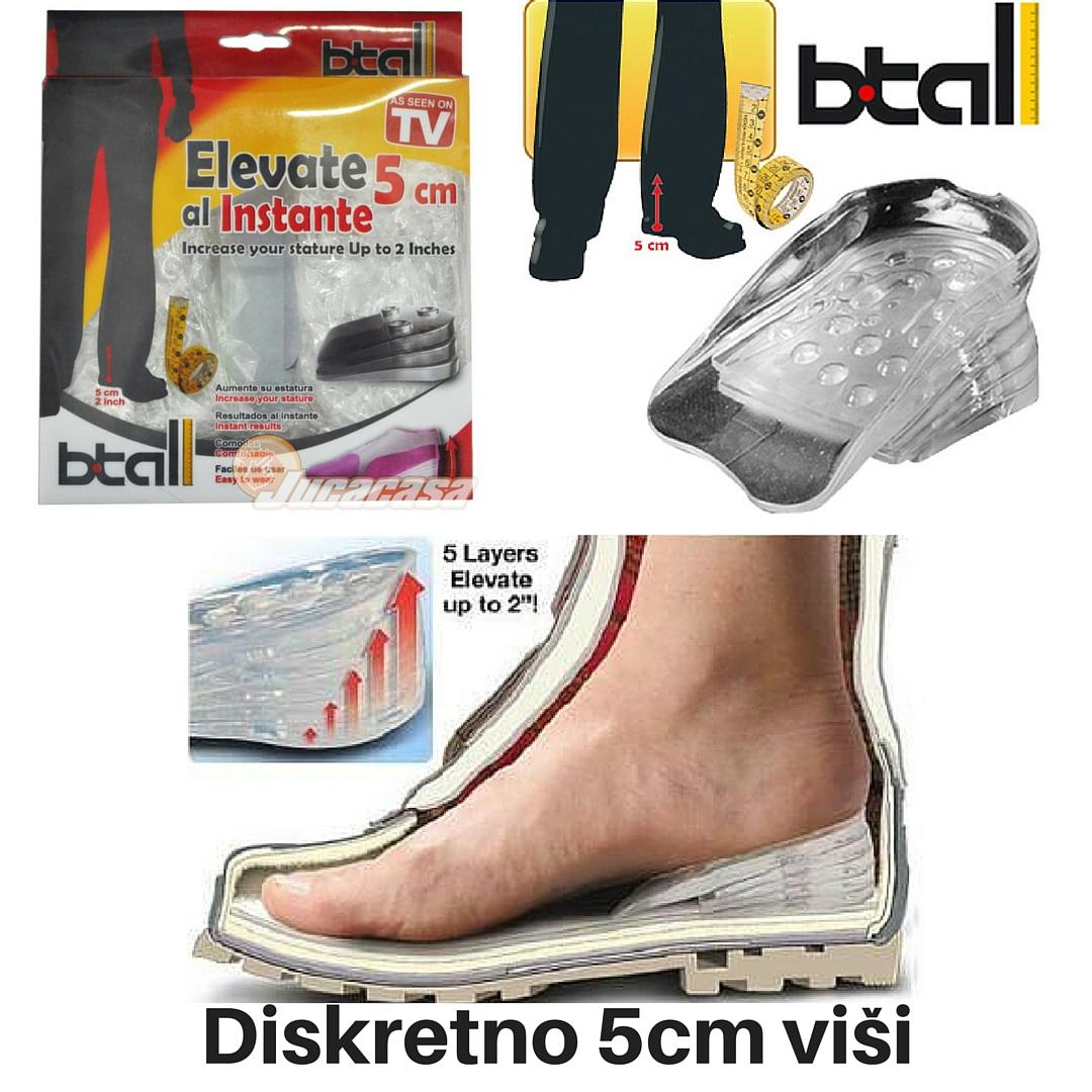 ba14cc337e Btall - Ulošci za visinu - diskretno izgledajte do 5cm visočiji - eTrg.net