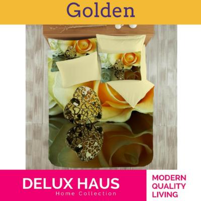 """3D Posteljina za bračni krevet """"Golden"""" - 100% Ranforce Pamuk"""