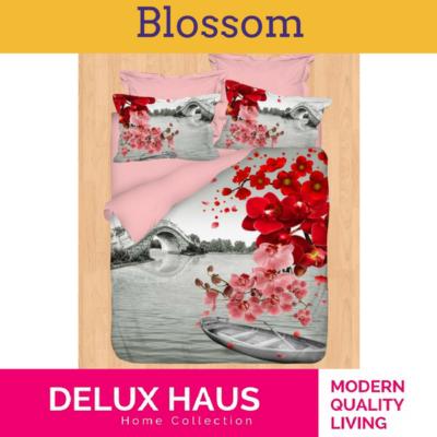 "3D Posteljina za bračni krevet ""Blossom"" - 100% Ranforce Pamuk"