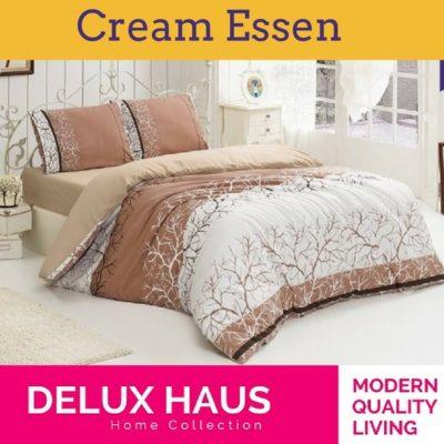 """Bračna posteljina """"Cream Essen"""" - 100% Ranforce pamuk!"""