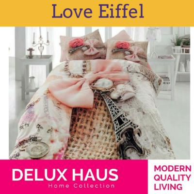 """3D posteljina za bračni krevet """"Love Eiffel"""""""