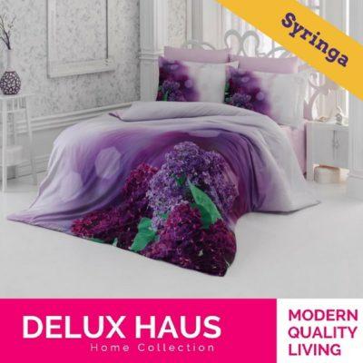 "Kvalitetna 3D posteljina za bračni krevet ""Syringa"" - 100% Ranforce Pamuk."