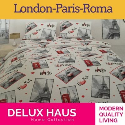 "Singl posteljina ""London-Paris-Roma"" - 100% Ranforce pamuk!"