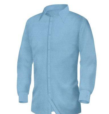 Blu Marino by Giovanni - strukirana svetlo plava muška košulja