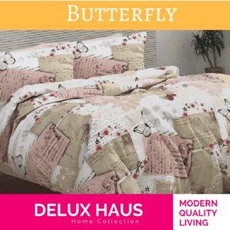 4 u 1 set Butterfly posteljina sa prekrivačem
