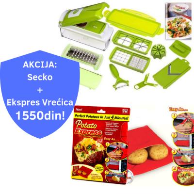 AKCIJA: Nicer Dicer Plus Secko + Krompir Ekspres vrećica