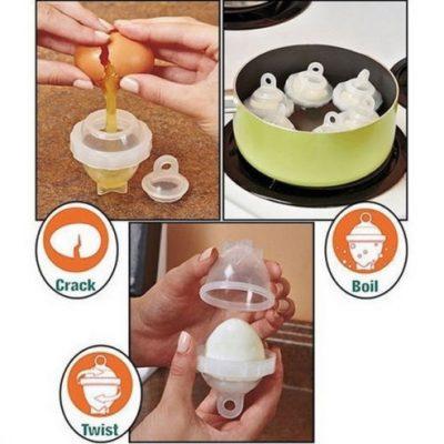 6 Kalupa za kuvanje jaja + separator