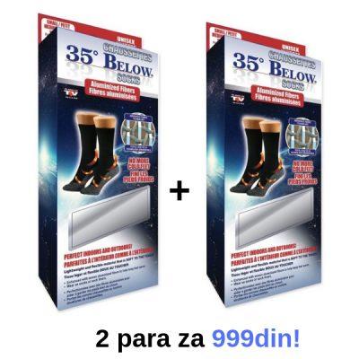 Čarape za cirkulaciju Below 35 - 2 para za 999din