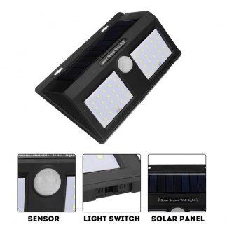 Dupli LED solarni reflektor sa senzorom