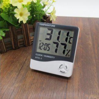 Digitalni sat, termometar, vlagometar, alarm HTC1