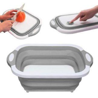 3 u 1 Daska za sečenje, posuda za pranje i serviranje
