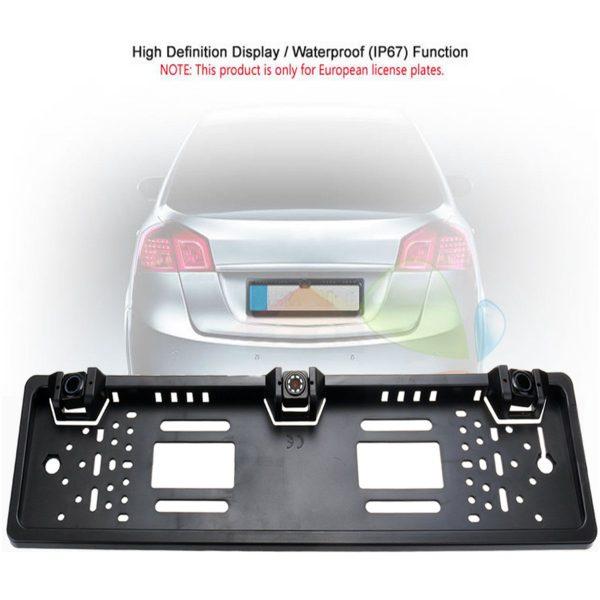 Ram za tablice sa parking senzorima i kamerom