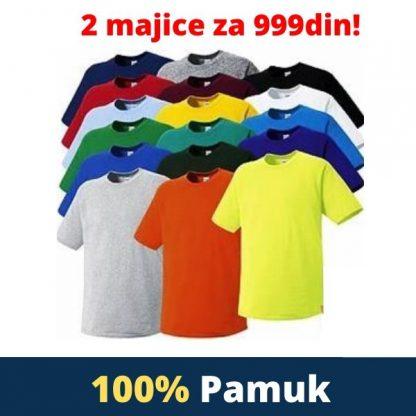 2 jednobojne majice za 999din! 100% Pamuk