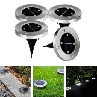 Set od 4 Ubodne Solarne Disk Svetiljke