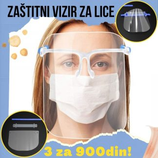 Zaštitni vizir maska za lice sa naočarima