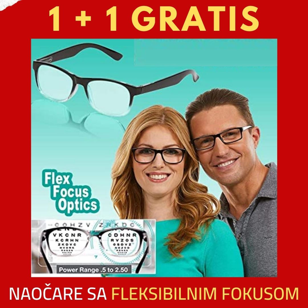 Naocare sa fleksibilnim fokusom + 1 gratis