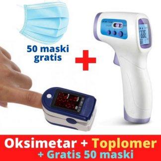 Oksimetar + Toplomer + 50 maski gratis